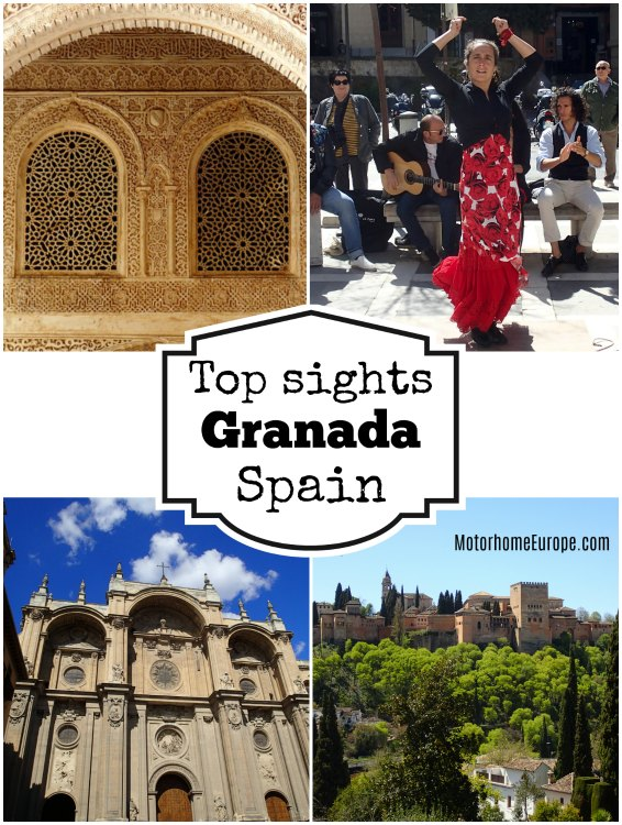 Top sights to see in Granada Spain. The Alhambra Palace, Flamenco, the white washed gypsy quarter and the Albacyn district, the cathedral, walking the Darro valley - and so much more.