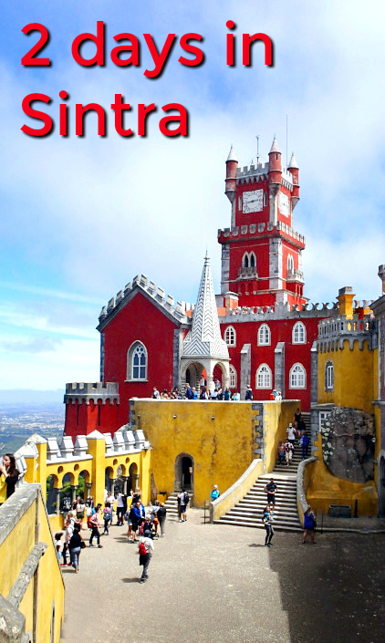 Sintra, Portupgal. 2 day itinerary with tips for getting about, avoiding the queues and what to visit in what order Lots of photos to enjoy of the palaces and parks in Sintra. Pena palace, Monserrate Palace, Quinta da Regaleira, Initiation well. #Sintra #Portugal #PenaPalace #SintraPalace #TravelBlog #TravelTips #BucketList